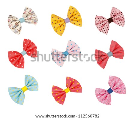 Cute colorful children hairpin isolated on white background