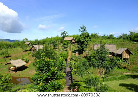 cute cottages on hills - thai style