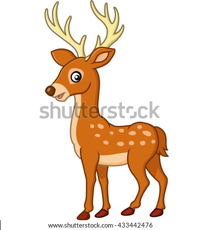 Cute Deer Cartoon Ez Canvas