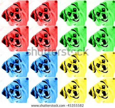 Cute Dog Pop Art