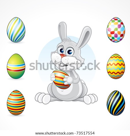 cute easter eggs designs. stock photo : Cute Easter
