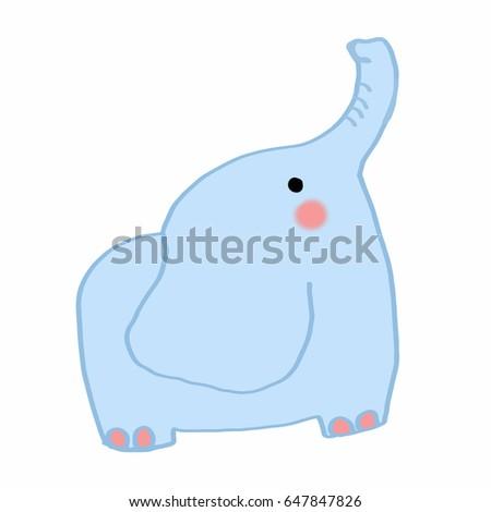 cute elephant Stok fotoğraf ©
