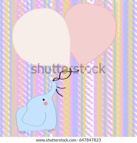 cute elephant and baloons Stok fotoğraf ©