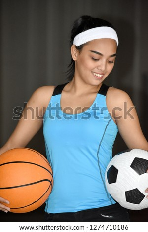 Cute Fitness Filipina Adult Female