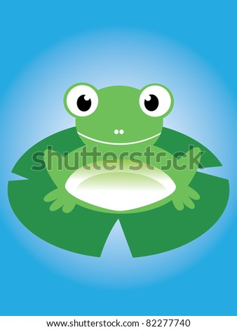 cute frog illustration