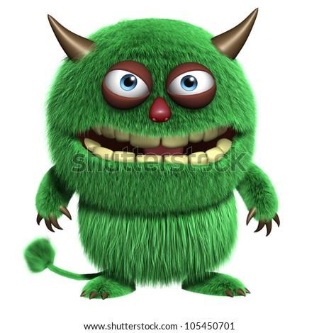 cute furry troll - stock photo