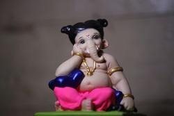 cute ganesha idol, A rare idol of baby Lord Ganesha