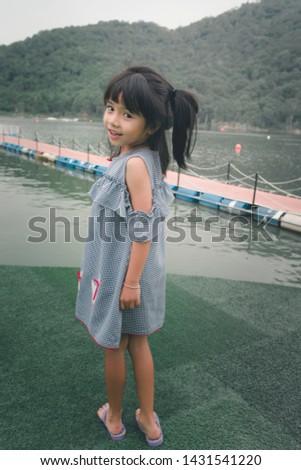 Cute girl fashion girl posing Outdoor