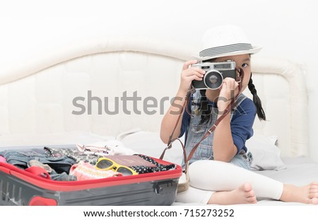 cute girl take pictures from...