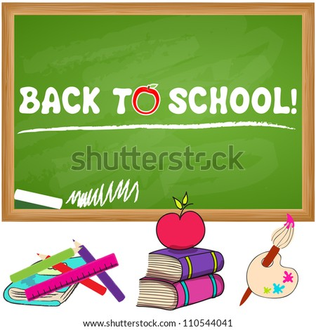 Cute hand drawn sketch style back to school illustration