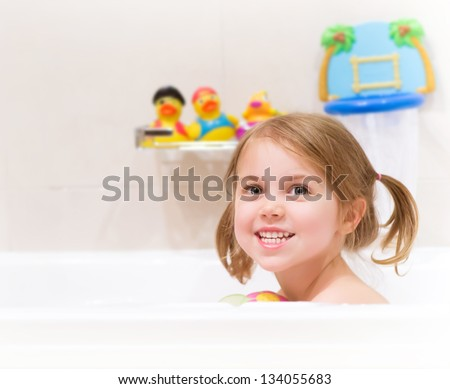 bathing girl images