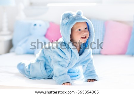 cute happy laughing baby boy in ...