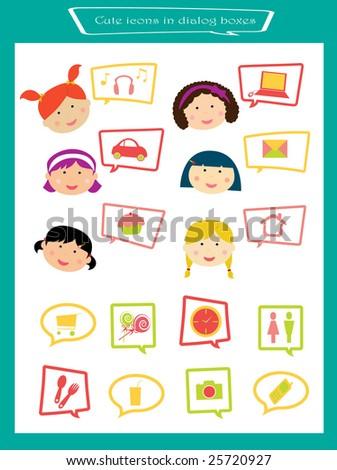 cute icon illustrations