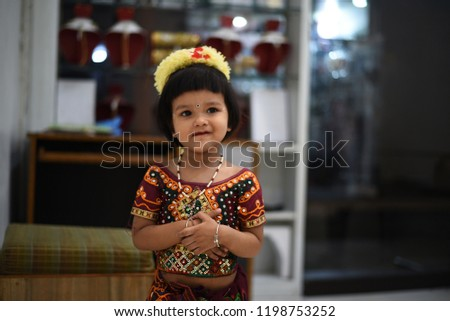 d400d76f1c Cute Indian baby girl dresses in traditional clothes and giving some  natural poses. #1198753252