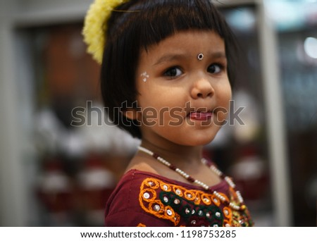 a05d928f20 Cute Indian baby girl dresses in traditional clothes and giving some  natural poses. #1198753285