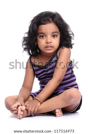 Cute Indian little girl portrait.