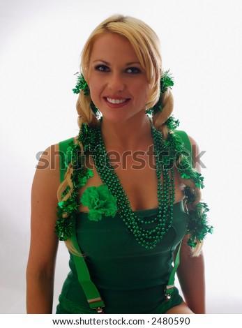 Cute Irish Lassie Ready for St. Patty's Day