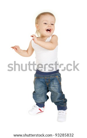 Cute kid dances