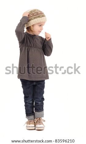 cute kid girl with lollipop