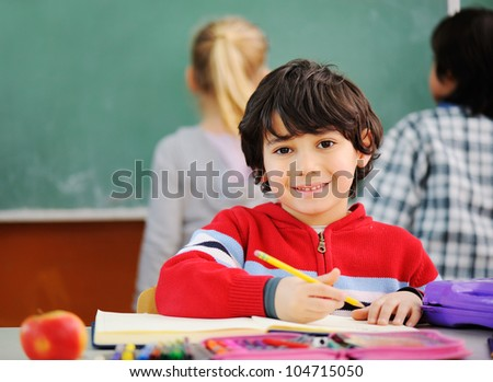 Cute kids in school