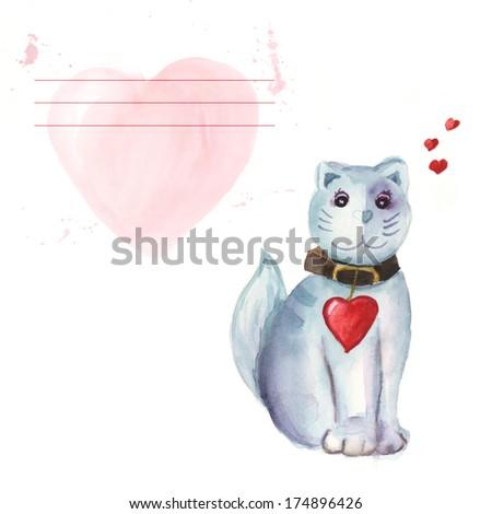 cute kitten valentine #174896426