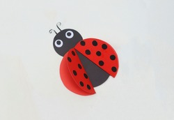 Cute Ladybug - Beautiful Paper Crafts for Kids - Red Ladybugs Insect Bug