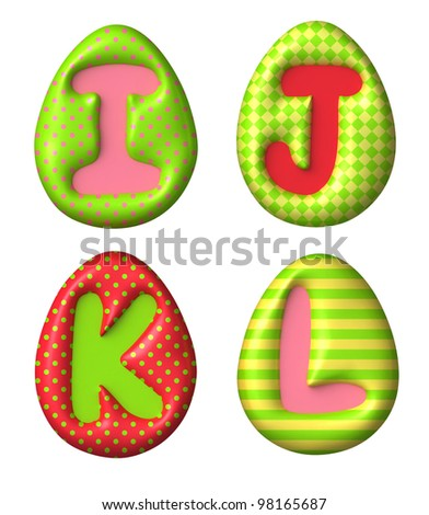 Cute letters for easter design