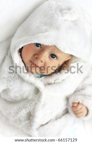 cute little boy isolated on white