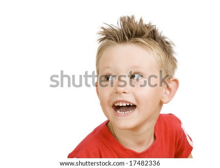cute little boy laughing