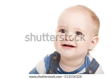 cute little boy with big eyes