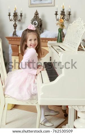 cute little girl in beautiful...