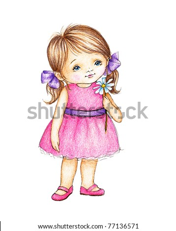 cute little girl in pink dress...
