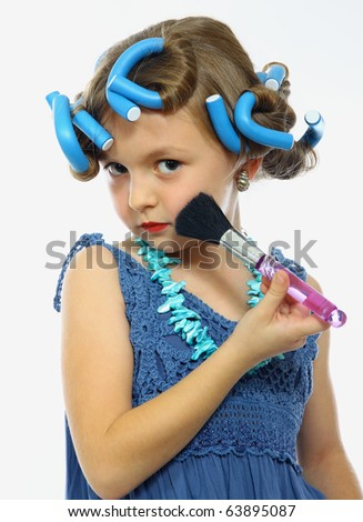 how to do cute makeup. stock photo : cute little girl