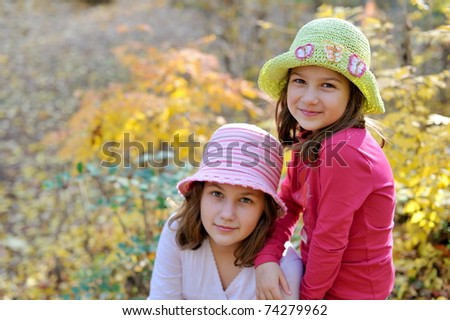 cute little girls in the park