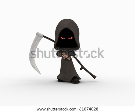 Cute little grim reaper character