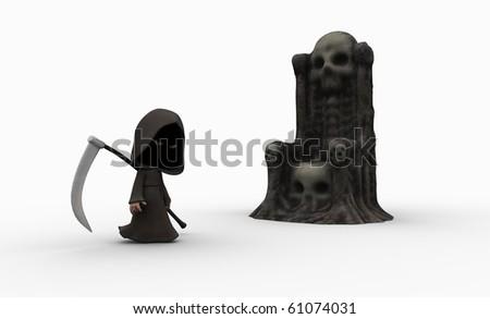 Cute little grim reaper character
