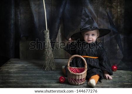 cute little halloween witch