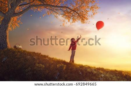 cute little happy girl walking...