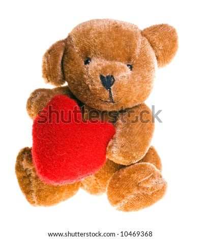 cute little teddy bear holding a heart
