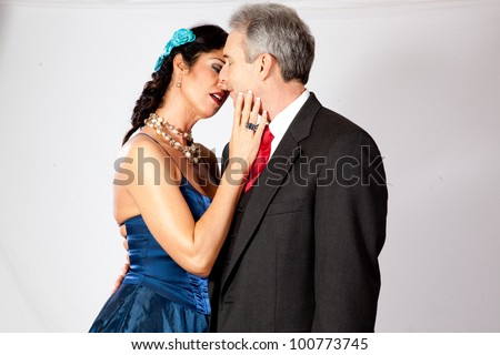 stock photo : Cute mature couple, in formal dress and a very romantic mood ...