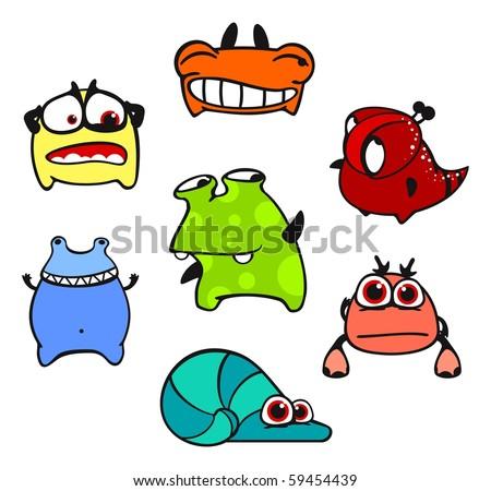 Cute monsters #5 (raster version)