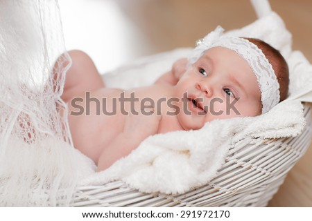 3466dc57846 Cute newborn baby girl 1 month child… Stock Photo 293530886 - Avopix.com