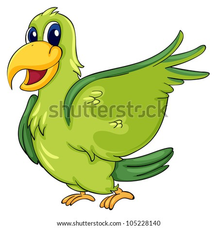 Cute parrot on a white background - EPS VECTOR format also available in my portfolio.