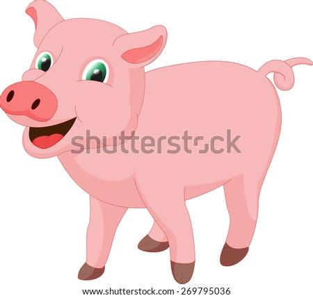 cute pig cartoon #269795036