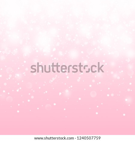 Cute Pink Baby Girl Pattern. Shiny Glitter Princess Background. Pink baby girl backdrop. Girly luxury falling glitter background.