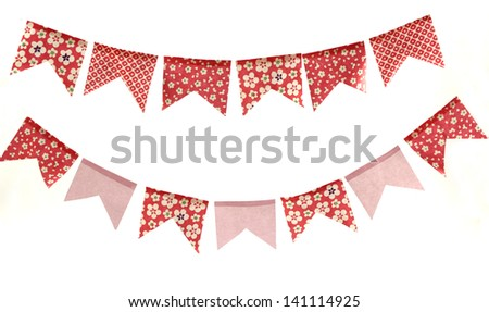 Cute red and pink flowers banners.