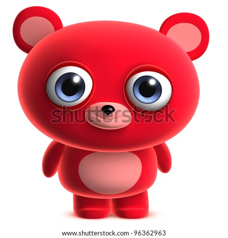 cute red bear