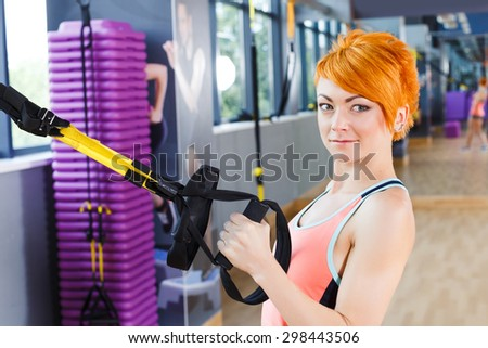 Matchless message, Redhead female fitness girls