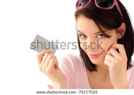Cute shopping girl