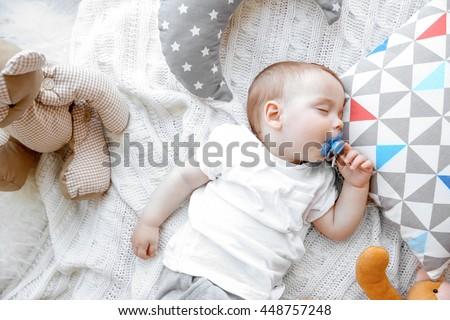 Cute sleeping baby boy